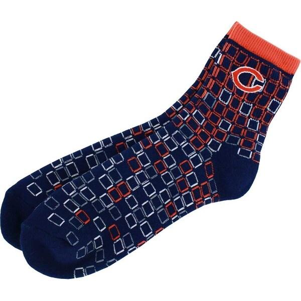 Chicago Bears Digital Stroke Adult Quarter Socks