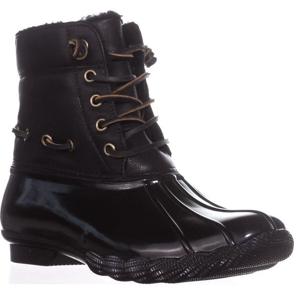 Steve Madden Torrent Short Rain Boots, Black - 7 us