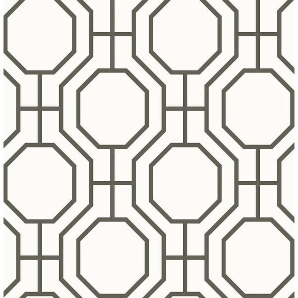 Brewster 2625-21844 Circuit Black Modern Ironwork Wallpaper - black ironwork - N/A