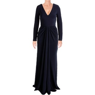 Vera Wang Womens Evening Dress Jersey Drapey