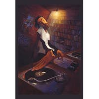 ''The DJ'' by Justin Bua African American Art Print (35 x 24 in.)