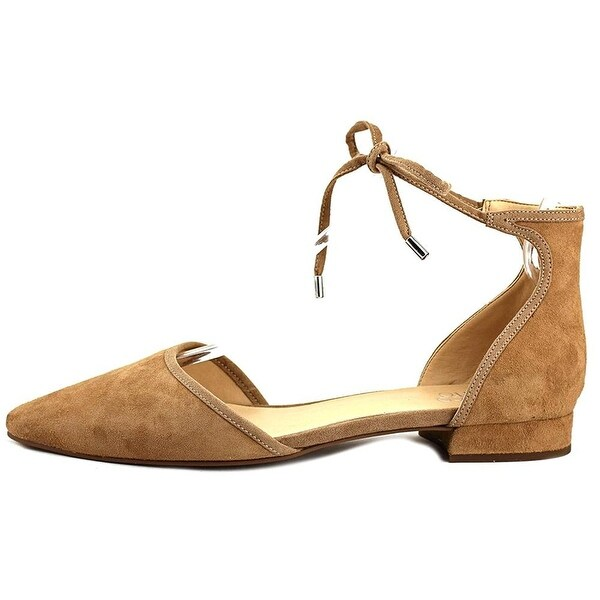Franco Sarto Womens Sybil Leather Pointed Toe Casual Ankle Strap Sandals - nocciola - 6