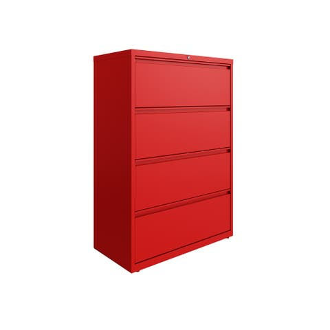 Hirsh 36 in Wide, 4 Drawer, HL8000 Series, Lava Red