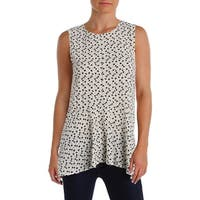 Vince Camuto Womens Tank Top Crepe Dots
