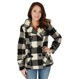 Urban Republic Juniors Double Breasted Peacoat Wool Coat