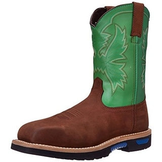 Cinch Mens WRX Workman Leather Waterproof Work Boots - 12 extra wide (e+, ww)