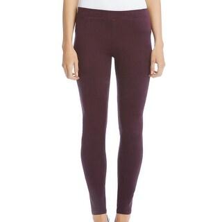 Karen Kane NEW Purple Womens Size XS Faux-Suede Leggings Pants Stretch