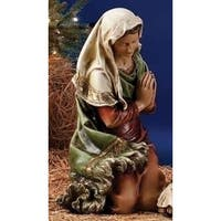 "39"" Scale Joseph's Studio Virgin Mary Christmas Nativity Outdoor Statue in Color - Green"
