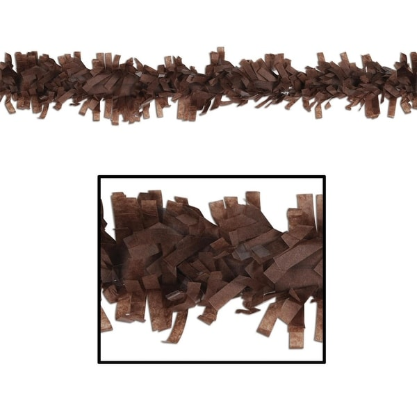 Club Pack of 24 Cocoa Brown Festive Tissue Festooning Decorations 25'