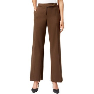 Calvin Klein Womens Petites Dress Pants Classic Fit Solid