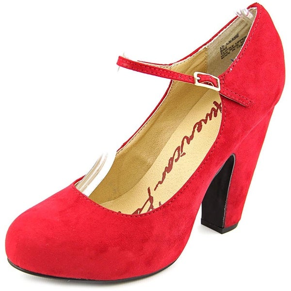 American Rag Jessie Women Round Toe Canvas Red Mary Janes