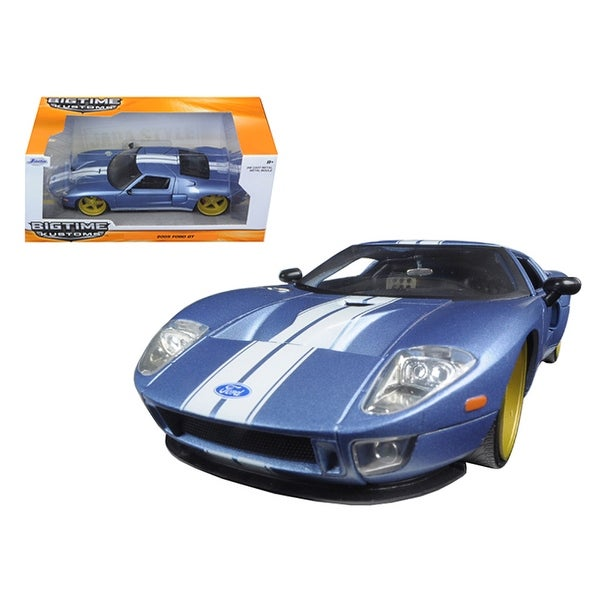 Ford Gt Blue  Cast Model Car By Jada