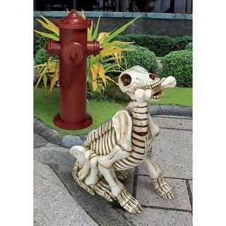 Design Toscano Halloween  Fetch, the Skeleton Dog Statue