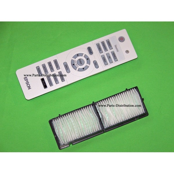 Epson Air Filter & Remote Control PowerLite Home Cinema 8100, 8350, 8500 UB 8700