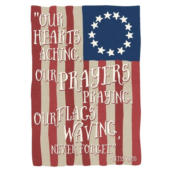 photograph relating to Betsy Ross Printable Pictures named Betsy Ross Flag - In no way Neglect Quotation - Lantern Drive Art (Artwork Print - Various Dimensions Accessible) - 9 x 12 Artwork Print