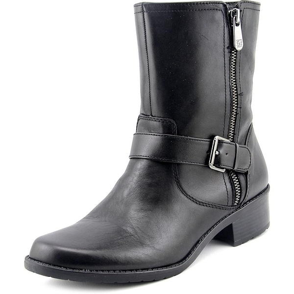 Womens Boots Anne Klein Lino Black Leather