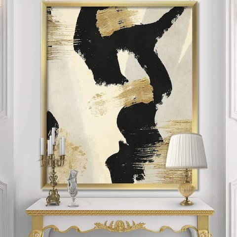 Designart 'Glam Collage II' Modern & Contemporary Premium Framed Art Print