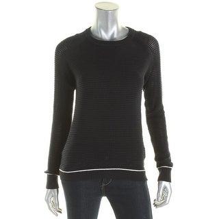 Scotch & Soda Womens Petites Pullover Sweater Knit Contrast Trim - p