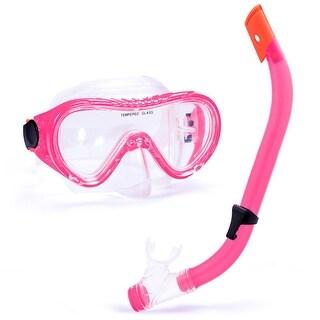 Junior Semi-Dry Diving & Snorkel Set, Pink