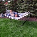 Sunnydaze 2-Person Quilted Hammock with Spreader Bars and Detachable Pillow - Hammock Stand Included - Thumbnail 61