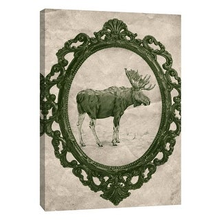 "PTM Images 9-108971  PTM Canvas Collection 10"" x 8"" - ""Framed Moose in Evergreen"" Giclee Moose Art Print on Canvas"