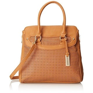 Urban Originals Womens Shelly Faux Leather Convertible Shoulder Handbag - Cognac - Medium