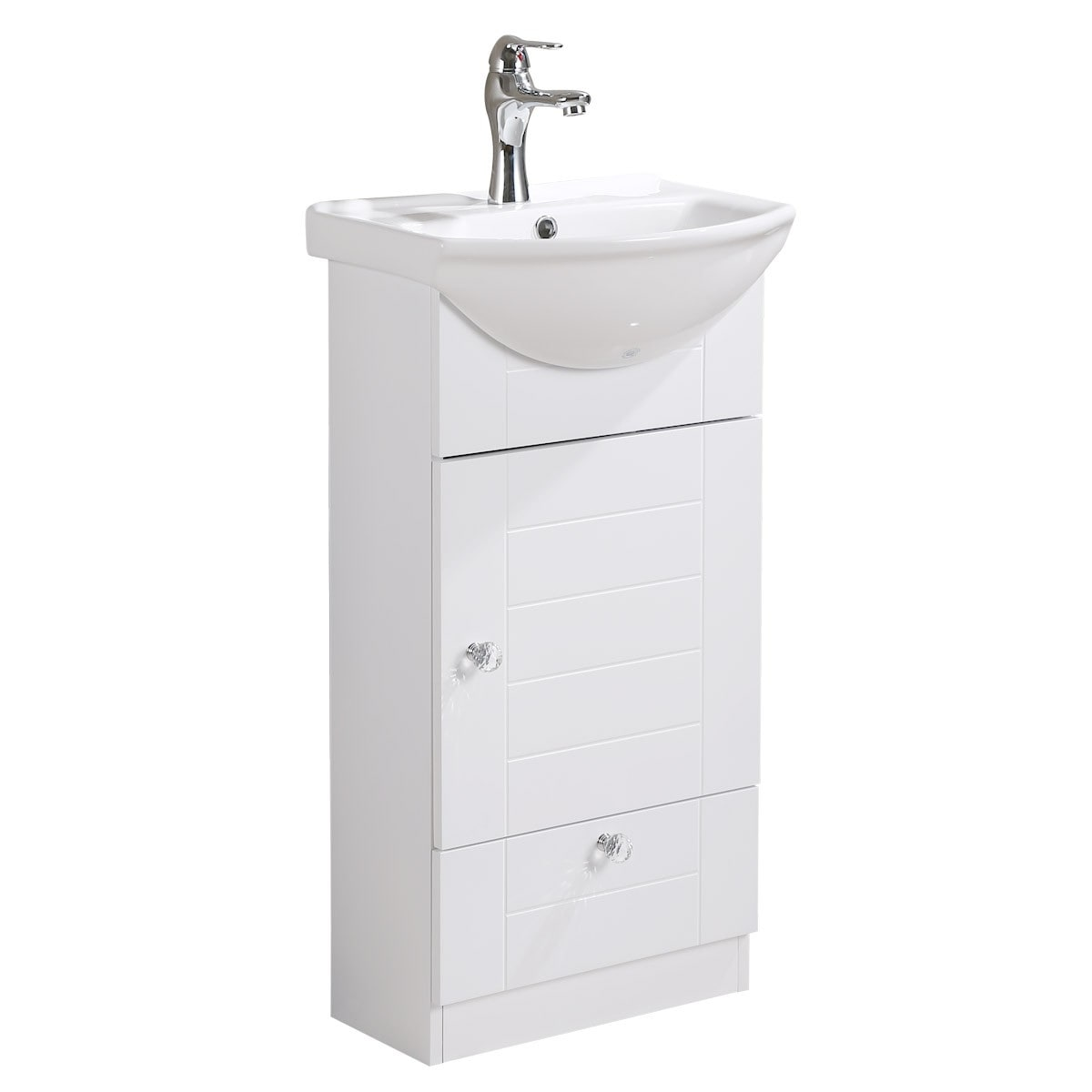 . Renovators Supply Small Wall Mounted Cabinet Vanity Bathroom Sink With  Faucet