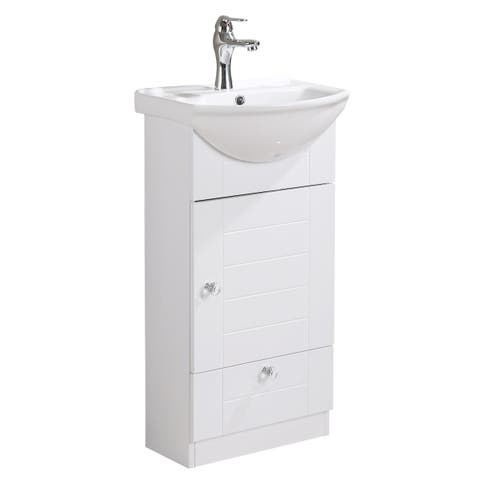 Renovators Supply Small Wall Mounted Cabinet Vanity Bathroom Sink With Faucet