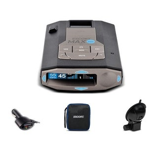 Escort Max 360C Radar Laser Detector with Wi-Fi + Escort Smart Direct Power Cord + 1-Year Extended Warranty Bundle