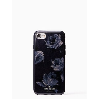 Kate Spade New York Night Rose Glitter iPhone 7 / iPhone 8 Case, Navy