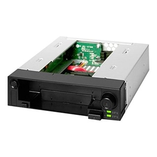 Icy Dock Duoswap Mb971sp-B 5.25 Inch Hot Swap Drive Caddy / Docking For 2.5 Inch & 3.5 Inch Sata Hard Drive/Ssd