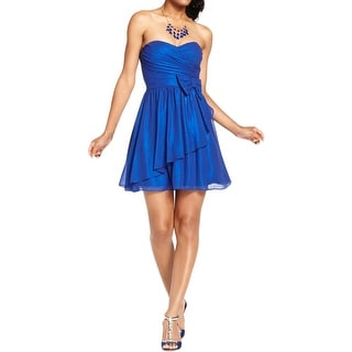 B. Darlin Womens Juniors Semi-Formal Dress Metallic Strapless