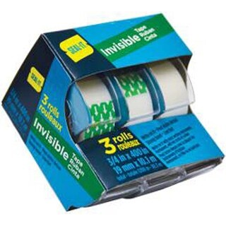 "- Seal-It Invisible Tape .75""X400"" 3/Pkg"
