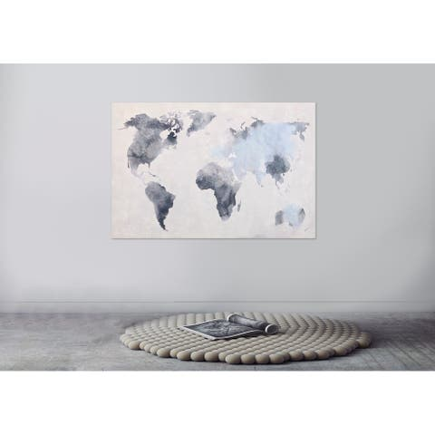 World Map Printed Canvas