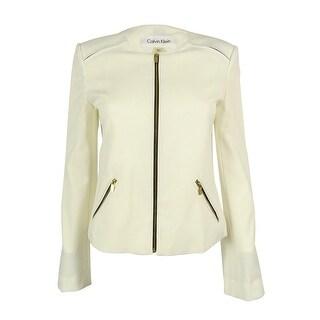 Calvin Klein Women's Long Sleeve Zip Front Jacket - 2