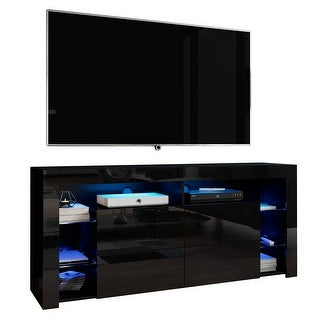 Link to Meble Furniture Minelli Modern 61-inch Glossy TV Stand Similar Items in Kitchen Carts
