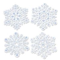 Pack of 24 Christmas Holiday Glittered Snowflake Cutouts 14""