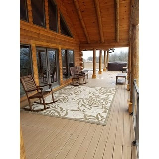 Safavieh Andros Natural/ Brown Indoor/ Outdoor Rug - 9' x 12'
