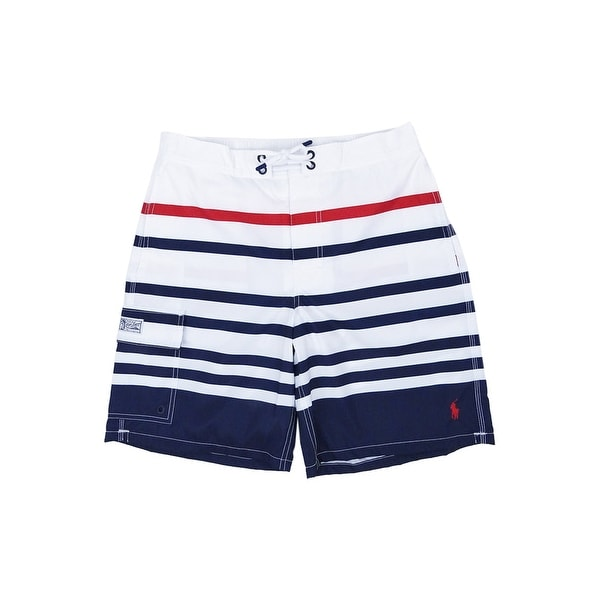 c5f00fb8f6 Shop Polo Ralph Lauren Men's Kailua Swim Trunks (S, White Nautical Stripe)  - White Nautical Stripe - S - Free Shipping Today - Overstock - 24302963
