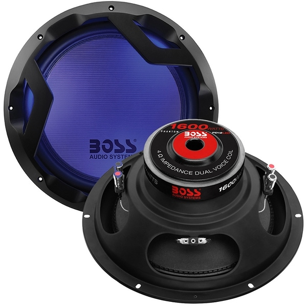 "Boss Phantom 12"" Woofer Featuring Multi-LED Illumination Dual 4 Ohm Voice Coil"