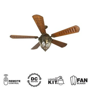 "Craftmade K10338 Olivier 70"" 5 Blade DC Indoor Ceiling Fan - Blades, Remote and Light Kit Included"