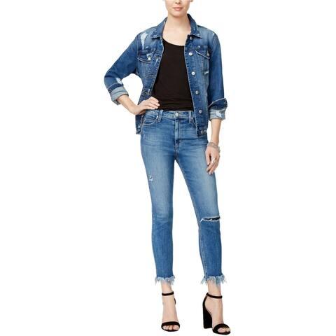 Joe's Womens Charlie Crop Skinny Fit Jeans, Blue, 30