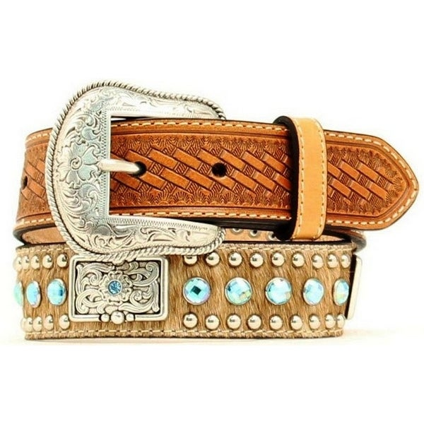 Shop Nocona Western Belt Kids Child Leather Hair Rhinestones Brown - Free  Shipping On Orders Over  45 - Overstock - 15444587 0b800a4e7562