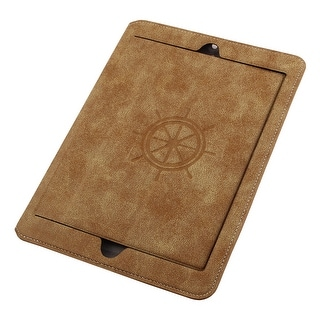 Faux Leather Handheld Smart Stand Protective Case Cover Pale Orange for iPad 2/3