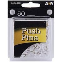 Clear 50/Pkg - Push Pins