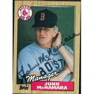 Signed McNamara John Boston Red Sox 1987 Topps baseball Card autographed