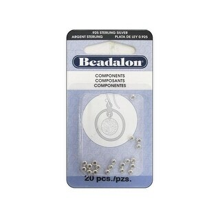 Beadalon Bead Seamed Round 3mm Sterlng Slvr 20pc