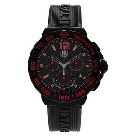 Tag Heuer Men's 'Formula 1' CAU111D.FT6024 Chronograph Rubber Strap Watch
