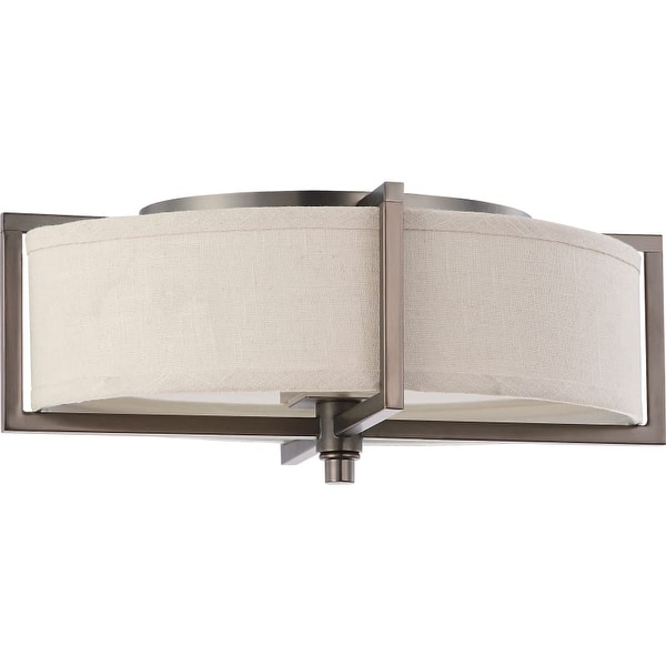 "Nuvo Lighting 60/4458 Portia 2 Light 11"" Wide Flush Mount Drum Ceiling Fixture"