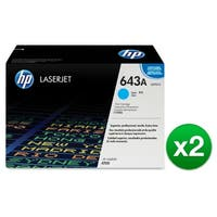 HP 643A Cyan Original LaserJet Toner Cartridge (Q5951A)(2-Pack)